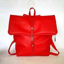 Batohy - Batoh (roll-backpack červený) - 9433470_