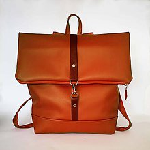 Batohy - Batoh (roll-backpack hnedý) - 9433491_