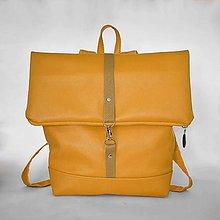 Batohy - Batoh (roll-backpack žltý) - 9433509_