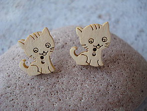 Náušnice - Náušnice zvedavé mačiatka - 9433064_
