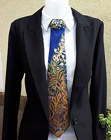 Iné doplnky - Madam M-hodvábna dámska kravata - 9435055_