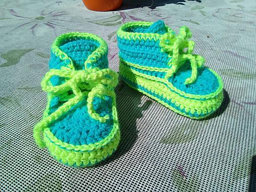b045b1fbf7ba0 Detské háčkované tenisky / Niko74 - SAShE.sk - Handmade Topánočky