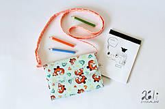 Detské tašky - Detská kabelka - pastelkovníčka Líštičky modré - 9434777_