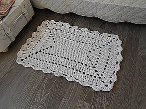 Úžitkový textil - koberček v bielej - 9436377_