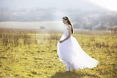 Šaty - Biele tylové šaty Slavianka - 9436039_