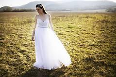 Šaty - Biele tylové šaty Slavianka - 9436042_