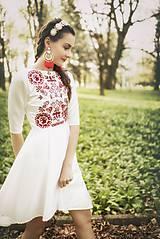 Šaty - Vyšívané krátke šaty Slavianka - 9436053_