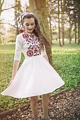 Šaty - Vyšívané krátke šaty Slavianka - 9436055_