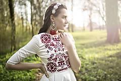 Šaty - Vyšívané krátke šaty Slavianka - 9436060_