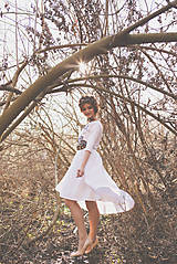 Šaty - Vyšívané krátke šaty Slavianka - 9436067_