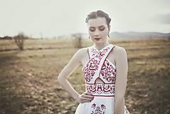 Šaty - Ľanové šaty Slavianka - 9436164_