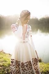 Šaty - Vyšívané šaty s dlhým rukávom Slavianka - 9436225_