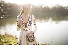 Šaty - Vyšívané šaty s dlhým rukávom Slavianka - 9436226_