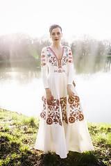 Šaty - Vyšívané šaty s dlhým rukávom Slavianka - 9436227_