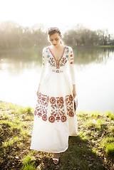 Šaty - Vyšívané šaty s dlhým rukávom Slavianka - 9436229_