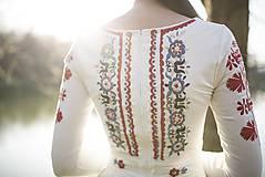 Šaty - Vyšívané šaty s dlhým rukávom Slavianka - 9436230_