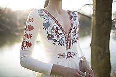 Šaty - Vyšívané šaty s dlhým rukávom Slavianka - 9436231_