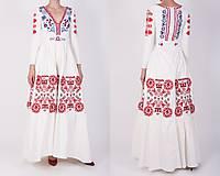 Šaty - Vyšívané šaty s dlhým rukávom Slavianka - 9436234_