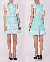 Šaty - Tyrkysové ľanové krátke šaty - 9436297_