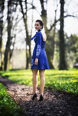 Šaty - Kráľovská modrá Slavianka - 9436334_