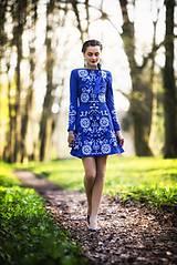 Šaty - Kráľovská modrá Slavianka - 9436335_