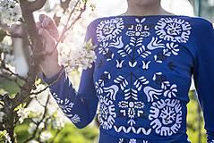 Šaty - Kráľovská modrá Slavianka - 9436336_