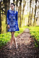 Šaty - Kráľovská modrá Slavianka - 9436338_