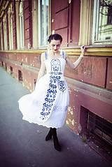 Šaty - Biele šaty s opaskom Slavianka - 9436350_