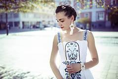 Šaty - Biele šaty s opaskom Slavianka - 9436351_