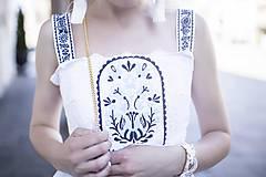 Šaty - Biele šaty s opaskom Slavianka - 9436352_