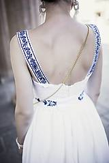 Šaty - Biele šaty s opaskom Slavianka - 9436353_