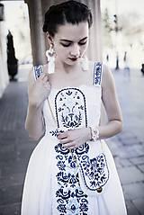 Šaty - Biele šaty s opaskom Slavianka - 9436356_