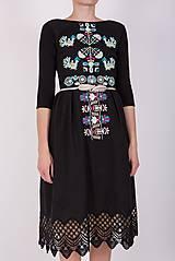 Šaty - Čierne vyšívané šaty - 9436430_
