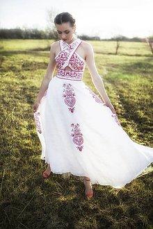 Šaty - Ľanové šaty Slavianka - 9436159_