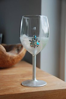 Nádoby - Strieborný pohár na víno - 9436293_