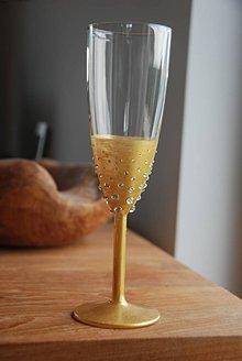 Nádoby - Zlatý pohár s kamienkami - 9436344_