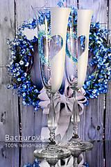 - Svadobné poháre (Pieskovaná mená) - 9435595_