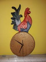 Dekorácie - Drevorezba hodiny : KOHÚT - 9435925_