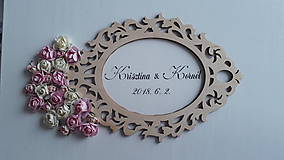 Krabičky - Svadobná krabička Rose - 9434682_