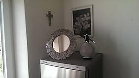 Zrkadlá - Okrúhle striebristé zrkadielko z bicyklovej reťaze - 9434744_