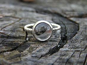 Prstene - Strieborny prsteň Ag925 Krištál - 9433528_