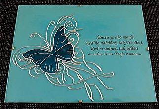 Obrazy - Obrázok na skle Motýľ - 9434342_