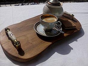 Pomôcky - Luxusný drevený podnos ORECH - 9434759_