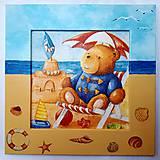 Detské doplnky - Obrázok - Medvedík na pláži - 9434019_