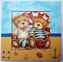 Detské doplnky - Obrázok - Medvedíci pri mori - 9433998_
