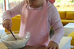 Detské oblečenie - Detská ľanová zásterka - 9435553_