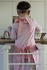 Detské oblečenie - Detská ľanová zásterka - 9435583_