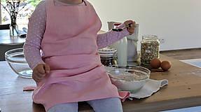 Detské oblečenie - Detská ľanová zásterka - 9435601_