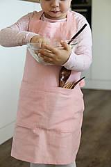 Detské oblečenie - Detská ľanová zásterka - 9435614_