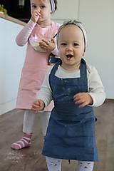 Detské oblečenie - Detská ľanová zásterka - 9435644_